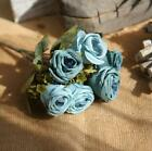 Artificial 6 Heads Silk Fause Rose Flower Bouquet Wedding Party Ornament GIFT