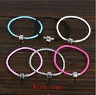 Fashion 13Colors Leather Bracelet Chain Bangle Fit European Charms Beads Buckle image