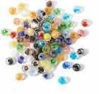 50 Glow In The Dark Beads Glass Luminous Round Lampwork 8mm 10mm 12mm Mix Color