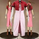 New Costume Final Fantasy VII Aerith Cosplay Costume Dress   NN.52