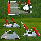 Pro Golf Swing Trainer Aid with Trap 4 Rods Hitting Practice Speed Trap Base UK