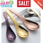 3 Pcs/Set Stainless Steel Long Handled Spoons Chinese Sliver Soup Coffee Tea Din