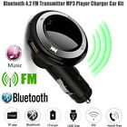 Wireless Bluetooth Hands-Free Q7 USB Charger LED MP3 Car FM Transmitter With Mic