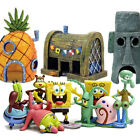 SpongeBob SquarePants Patrick Squidward House Fish Tank Figurines Decoration Lot