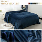 Soft Warm Microfiber Plush Fleece Blanket Throw Sofa Bed Home Large Queen King image
