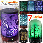 Iron-Glass LED Ultrasonic Air Humidifier Aromatherapy Essentiall Oil Diffuser