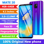 Android 8.0 Octa Core Dual Sim Ram 4gb Rom 64gb 6.1'' Hd Smart Mobile Phone