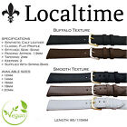 SUPER OFFER Vegan Watch Strap Smooth or Buffalo Synthetic Calf Leather 12-20mm