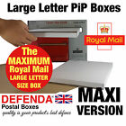 MAXIMUM SIZE Royal Mail LARGE LETTER PiP WHITE POSTAL BOXES POSTING Mailers