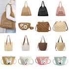 Crossbody Straw Beach Bag Women Girl Messenger Clutch Wallet Handbag Totes Purse