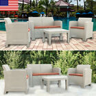 New Weather Outdoor Patio Garden Furniture Sofa Set Love Seat /coffee Table