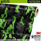LARGE METRO GREEN Camouflage Vinyl Vehicle Car Wrap Camo Film Sheet Adhesive