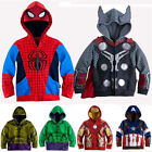 Kids Boys Superhero Spiderman Hooded Jacket Coat Hoodie Sweatshirt Outwear Tops