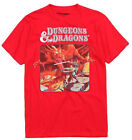 Dungeons and Dragons Red Men's Graphic T-Shirt New