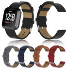 5 Colors Leather Replacement Band strap Clasp For Fitbit Versa/ Versa Lite