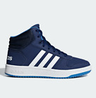 Adidas Hoops Mid 2.0 K, Kinder Sneaker High Top Dark Blue White, Gr. 31 – 35