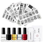 NICOLE DIARY Nail Art Stamping Polish Kit Stamping Plates with Stamper Scraper