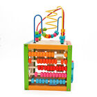 Multi-Function Wooden Learning Bead Maze Cube Activity Center Kids Education Toy