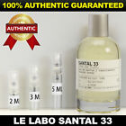 Le Labo Santal 33 Eau de Parfum Unisex 2ml 3ml 5ml AUTHENTIC DECANT SAMPLE VIAL