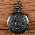 Antique Pendant Quartz Pocket Watch Vintage Necklace Chain Retro image