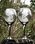 Skeleton wine glasses Hand Engraved Skull wedding glassesGothic Wedding