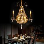 MIL Vintage European Style Crystal Chandeliers Candle Design Ceiling Lamps Decor