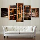 Wine cellar storage room 5 panel canvas Wall Art Home Decor Poster Print photo