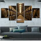 Wine Barrels Cellar 5 panel canvas Wall Art Home Decor Poster Print photo