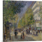 ARTCANVAS The Grands Boulevards 1875 Canvas Art Print by Pierre-Auguste Renoir