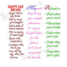 Unmounted Word Rubber Stamp phrase poem positive saying sympathy quote quotation