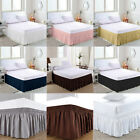 Elastic Bed Skirt 38cm Height Bedspread Dust Ruffles Twin Full Queen King Size image
