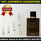 Giorgio Armani Acqua Di Gio Absolu Instinct 2ml 3ml 5ml 10ml AUTHENTIC DECANT