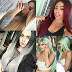 Women Roots Long Straight Full Wig Synthetic Hair Middle Part Party Cosplay GIFT