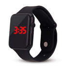 Mens Sport Watch Square LED Student Adult Couple Electronic Digital Watch Electr image