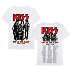 New Men's Kiss Band Rock End of The Road World Tour 2019 White T-Shirt S-3XL image