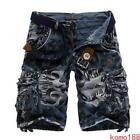 Mens Cargo camouflage Military Shorts Summer Pockets Work Casual Combat Trousers