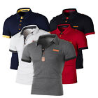 Men's Polo Shirt Short Sleeve Business Work Casual Slim Fit T-shirt Tops Tee image