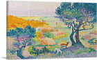 ARTCANVAS La Plaine De Bormes 1908 Canvas Art Print by Henri Edmond Cross