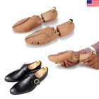 1 Pair Men's Shoe Trees Twin Tube Adjustable Cedar Wood Boots Trees US Size New