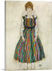 ARTCANVAS Portrait of the Artists Wife 1915 Canvas Art Print by Egon Schiele