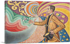 ARTCANVAS Portrait of Felix Feneon 1890 Canvas Art Print by Paul Signac