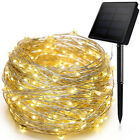 100-200 LED Solar Strip Light Copper Wire Lights String Fairy Xmas Party Decor