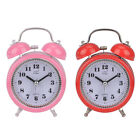 Bell Desk Classic Silent Battery Operated Bedroom Round Table Alarm Clock