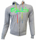 Sweatshirt Jersey Carlsberg Men Full Zip Hooded Hood 100% Cotton Made in Ital