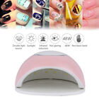48W Nail Dryer Polish Curing Lamp with Sensor Manicure Timer Setting LCD GIFT