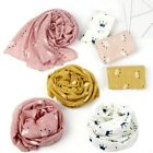 Kids Crown Print Scarf Autumn Linen Scarves Soft Shawl Girls Warm Neckerchief