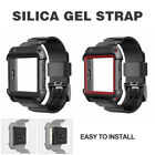 For Fitbit Ionic Watch Armor Rugged Band Protective Case Large Wristband Strap