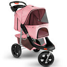 Dog Cat Stroller Deluxe Walk Folding Carriage for Small Medium Large Pet Cart <br/> #1 Seller - Brand Name - Detachable Undercarriage