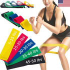 US Elastic Resistance Loop Bands Exercise Crossfit Yoga Fitness Gym Training lot image