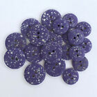 Purple & silver speckled coat/ cardigan buttons, 2 holes 15mm or 22mm per 10